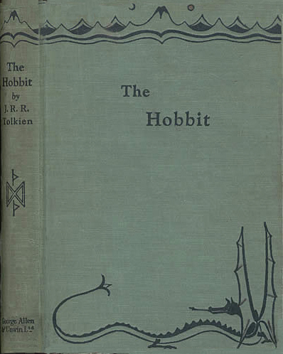 Front and spine boards The Hobbit First UK Edition