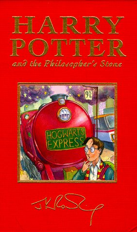 Harry potter and the philosopher's stone j. K. Rowling first.